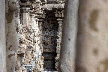 Kailasanathar tempel, Kanchipuram (India) van Martijn Mureau
