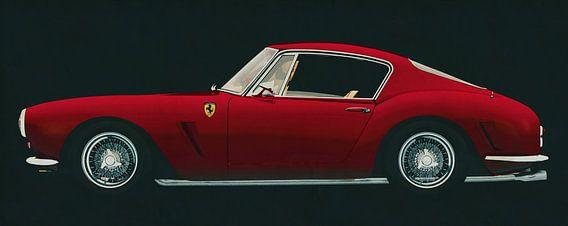 Ferrari 250 GT SWB Berlinetta 1957 zijaanzicht