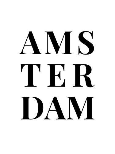 Amsterdam (in wit/zwart)