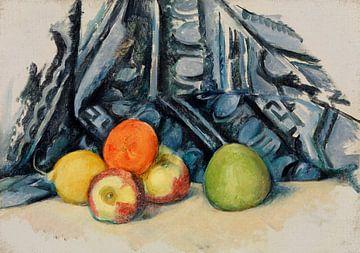 Stillleben, Äpfel und Teppiche, Paul Cézanne (ca. 1893-1894) von Atelier Liesjes