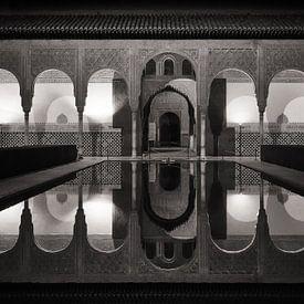 Alhambra bei Nacht / Myrtenhof von Alexander Voss