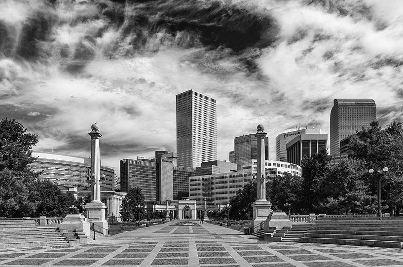 Denver Skyline van Ilya Korzelius