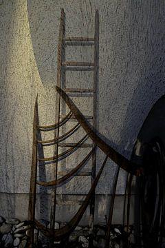 Ladders muur van Christine Nöhmeier