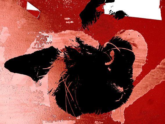 Kattenkunst - Mauro 1 van MoArt (Maurice Heuts)