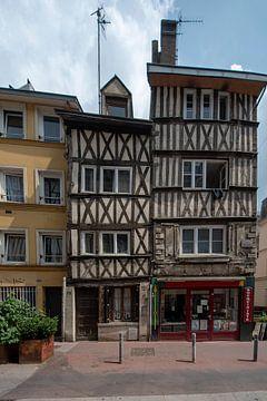 Fachwerkhäuser in Rouen, die Hauptstadt von Normandie, Frankreich. von Peter Bartelings Photography