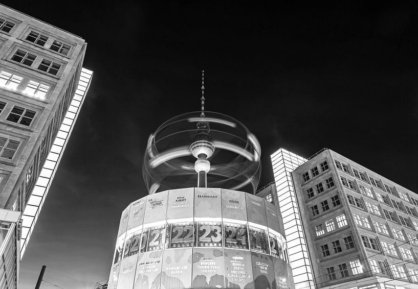 Horloge mondiale à l'Alexanderplatz (Berlin) sur Frank Herrmann