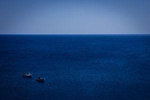 Vissers op open zee