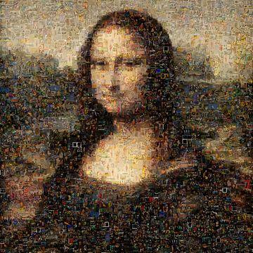 Mona Lisa Mosaik von Atelier Liesjes