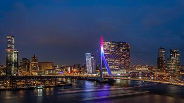 Erasmus-Brücke Rotterdam von Leon van der Velden