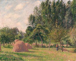 Hooibergen, Ochtend, Eragny, Camille Pissarro