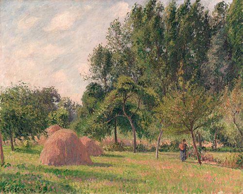 Hooibergen, Ochtend, Eragny, Camille Pissarro van Meesterlijcke Meesters