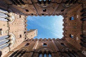 Siena, Italië - Raadhuis in kleur. van