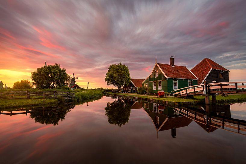 Sunset evening by the Zaanse Schans van Costas Ganasos