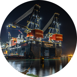 Sleipnir grootste kraanschip van Cindy van der Sluijs