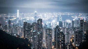 Hong Kong skyline bij nacht van Govart (Govert van der Heijden)