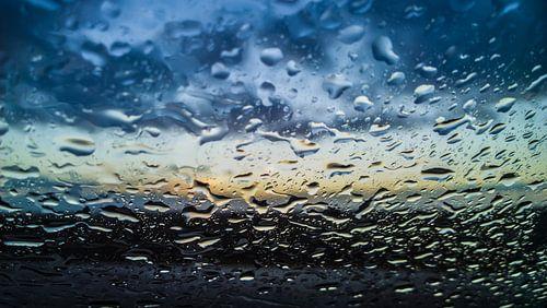 Rainy sunset van