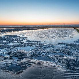 Buhne im Sonnenuntergang von Steffen Peters
