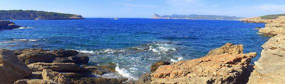 Kustlijn Ibiza Panorma van Picture Jo