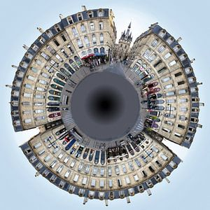 Bordeaux Little Planet Quai Richelieu van Panorama Streetline