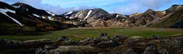 Landmannalaugar, IJsland van