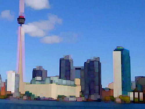 15. City-art, Abstract, Toronto - A. van Alies werk