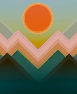Coucher de soleil dans les montagnes 12