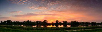 IJsseldelta zonsondergang van