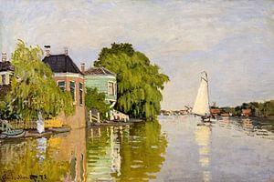 Houses on the Achterzaan  Artist-Claude Monet