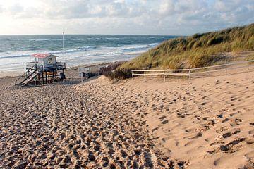 Uitzicht in de richting van het strand op Sylt van Martin Flechsig