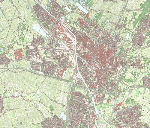Kaart van Utrecht van Rebel Ontwerp