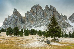 Geisler Dolomites in Val di Funes in South Tyrol