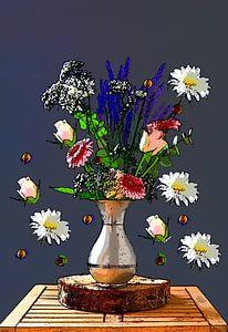 Kunst mit Blumen
