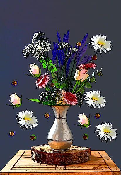 Kunst mit Blumen von Wendy Tellier - Vastenhouw