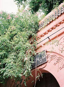 Porte rose pastel à Marrakech sur Raisa Zwart