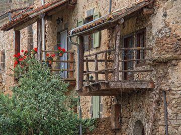 Romantisch middeleeuws stadsgezicht van Louis Kreuk