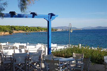 Restaurant aan de Griekse kust bij Mati van Berthold Werner