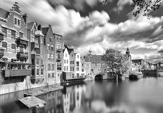 Delfshaven Rotterdam in B&W van Ilya Korzelius
