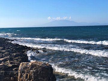 Rotsen strand Griekenland von Lotte Snoek