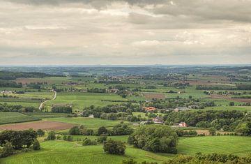 Uitzicht richting Vijlen vanaf de Wilhelminatoren van John Kreukniet