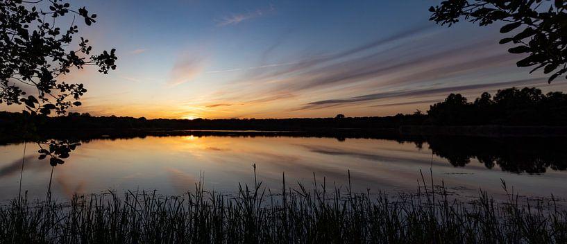 Roegwold zonsondergang. van Anjo ten Kate