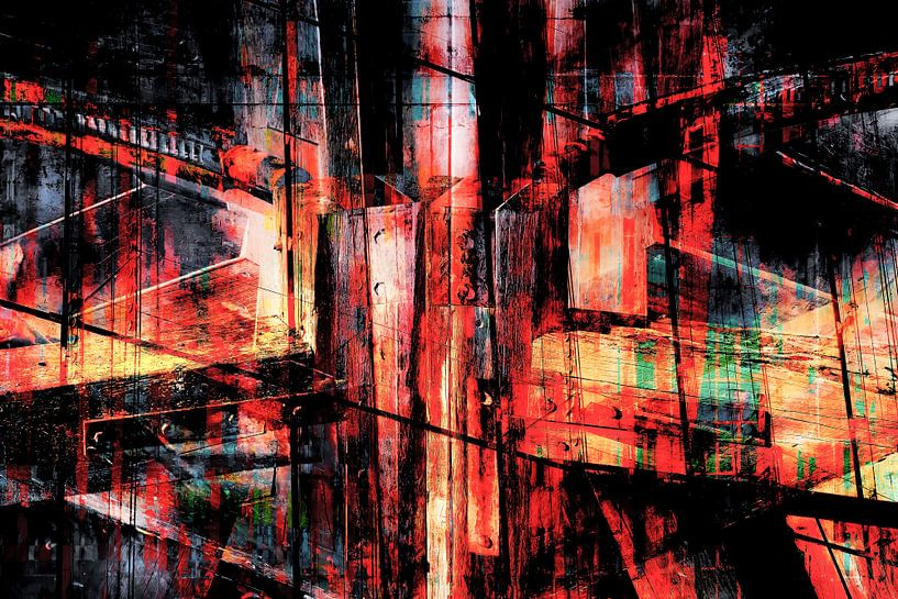Houtstructuur_abstract_07 van Manfred Rautenberg Photoart