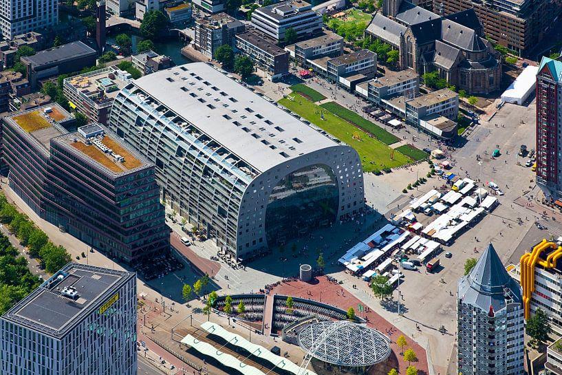 Luchtfoto Markthal 2 te Rotterdam van Anton de Zeeuw