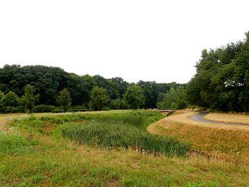 Landschap met brug von Joke te Grotenhuis