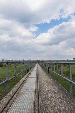 Oude werkbrug in de uiterwaarden van Meinerswijk Arnhem