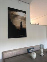 Klantfoto: De Domtoren onder een dreigende lucht. van Ramon Mosterd, op canvas