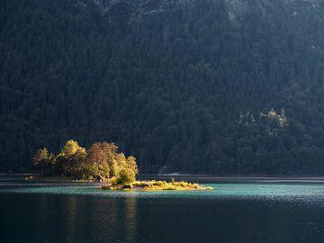 Lichtinsel am Eibsee von Max Schiefele