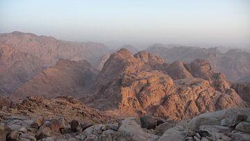 'Sinaï gebergte', Mozesberg- Egypte  van Martine Joanne