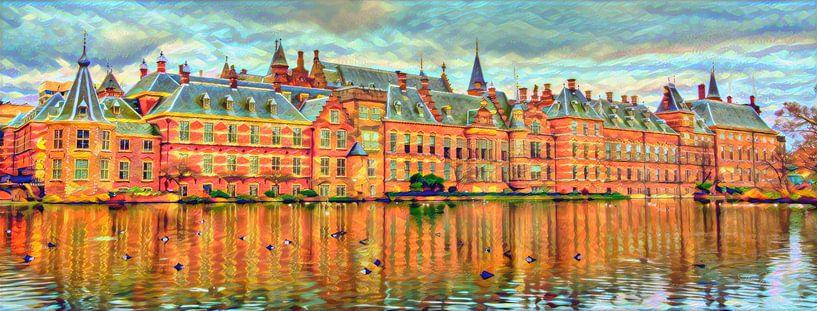 Bunter Binnenhof Den Haag von Slimme Kunst.nl