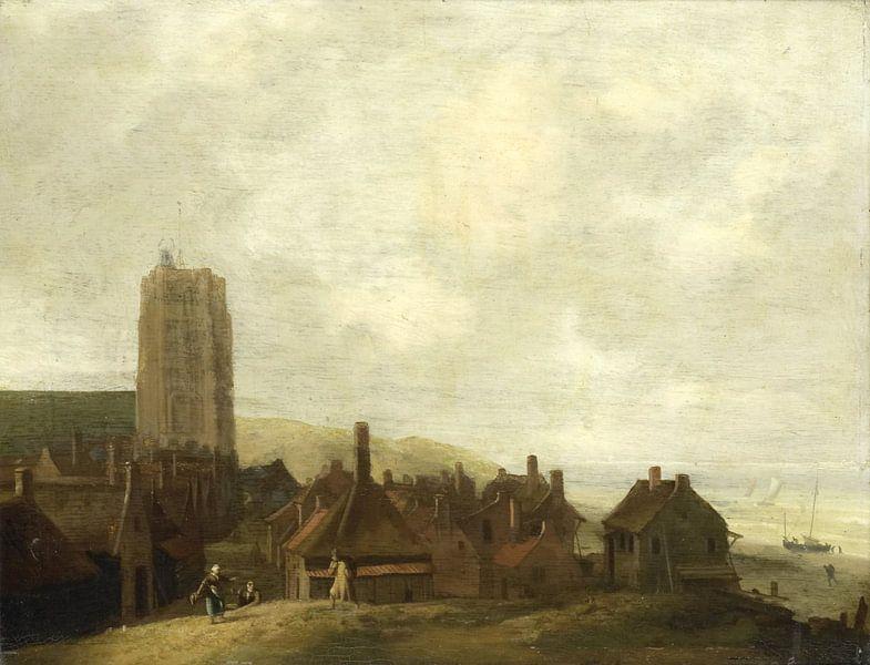 Gezicht op Egmond aan Zee, Ludolf Bakhuysen van Meesterlijcke Meesters