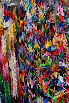 Kraanvogel Origami van Kim Koppenol